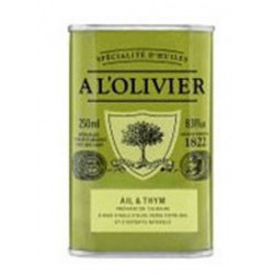 Huile d'olive ail & thym 25 cl