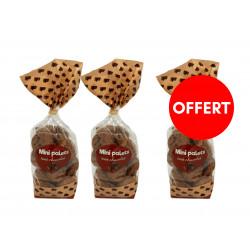 2 sachets mini palets chocolat achetés, le 3ème OFFERT